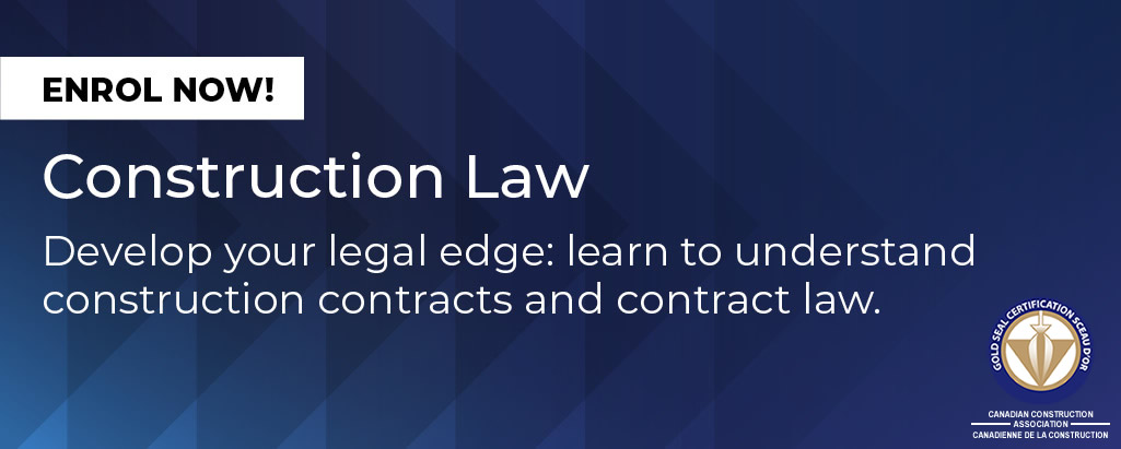 Construction Law Course Header
